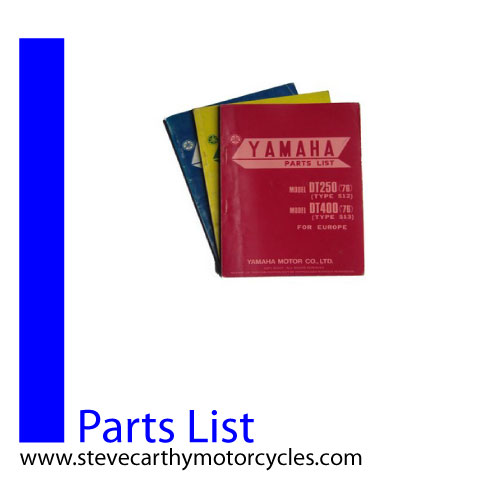 Steve Carthy Motorcycles :: Parts Books :: RD250(S) RD400(S