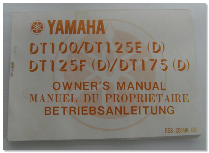 DT100-DT125E DT125F DT175 Yamaha Owners Manual