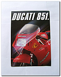 Ducati 851 Poster with Technical Data