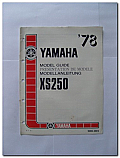 XS250 1978 Yamaha Model Guide