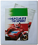 Ducati 750 Sport Poster with Technical Data