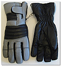 Leather Semi Gauntlet Motorcycle Gloves
