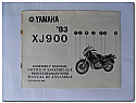 XJ900 1983 Yamaha Assembly Manual