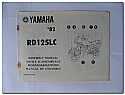 RD125LC 1982 Yamaha Assembly Manual