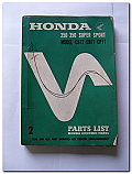 Honda 250 350 Super Sport Model CB72 CB77 CP77 Parts List Book