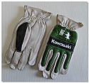 Kawasaki Leather MX Gloves