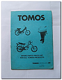 Tomos Spare Parts 1987 Price List