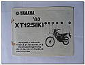 XT125 (K) 1983 Yamaha Assembly Manual