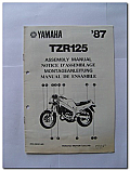 TZR125 1987 Yamaha Assembly Manual