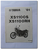XS1100S XS1100RH 1981 Yamaha Assembly Manual