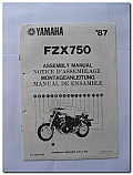 FZX750 1987 Yamaha Assembly Manual