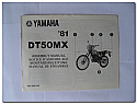 DT50MX 1981 Yamaha Assembly Manual