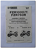 FZR1000 (T) FZR750R 1987 Yamaha Assembly Manual