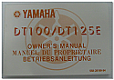 DT100 DT125E Genuine Yamaha Owners Manual
