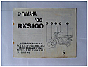 RXS100 1983 Yamaha Assembly Manual