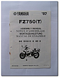 FZ750 (T) 1987 Yamaha Assembly Manual